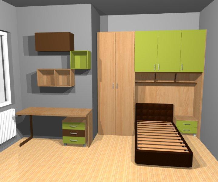 Progettare la cameretta due camere da teenagers - Progettare camerette per bambini ...