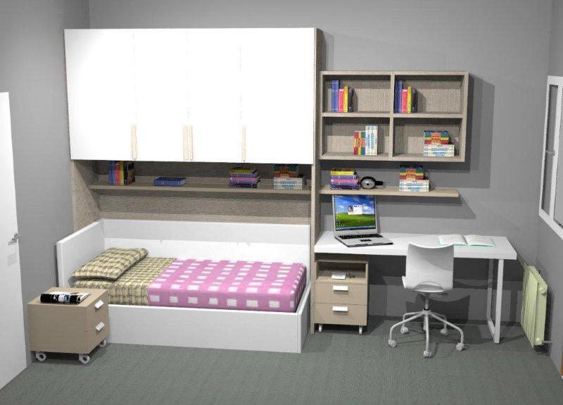Progettare la cameretta due camere da teenagers for Progettare la camera