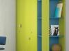 armadio colorato verde