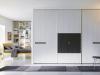 armadio scorrevole con porta tv e cassetti