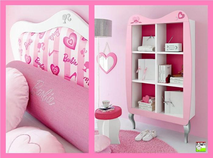 La cameretta di Barbie Romantik, camere per ragazze Doimo