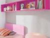 libreria pensile rosa