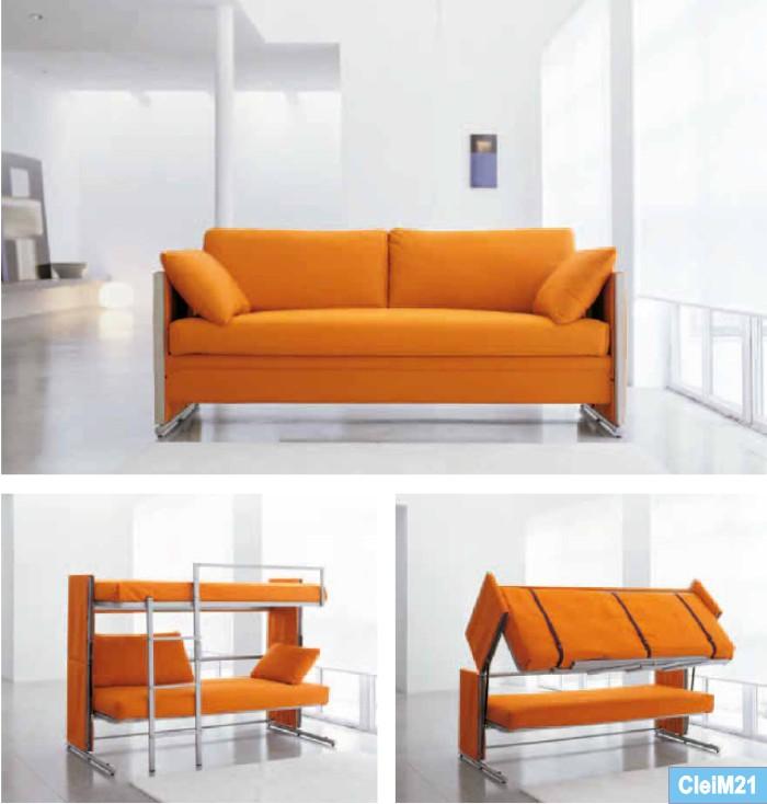 Catalogo Clei Living system , i mobili letto nello spazio living, zone