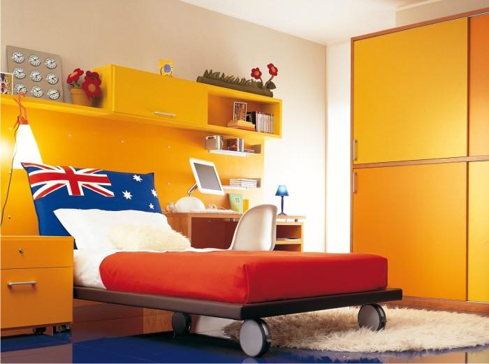 Camera da ragazzo con armadio scorrevole - Stanze da letto prezzi ...