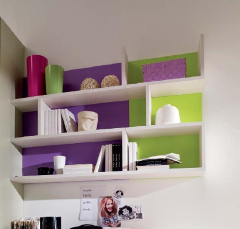 Mensole con oggetti mensole modulari - Mensole per camera bambini ...