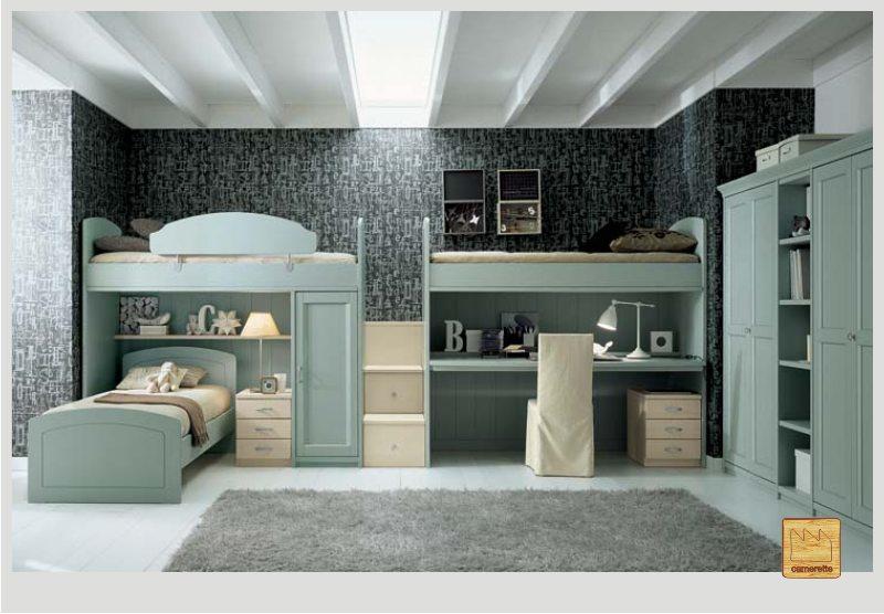 letto a castello mobili moderni : soppalchi e letti a castello realizzati in vero legno massello