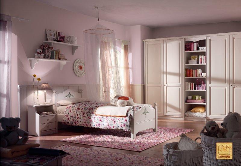 Camerette classiche il design della tradizione Habitaciones juveniles rosa