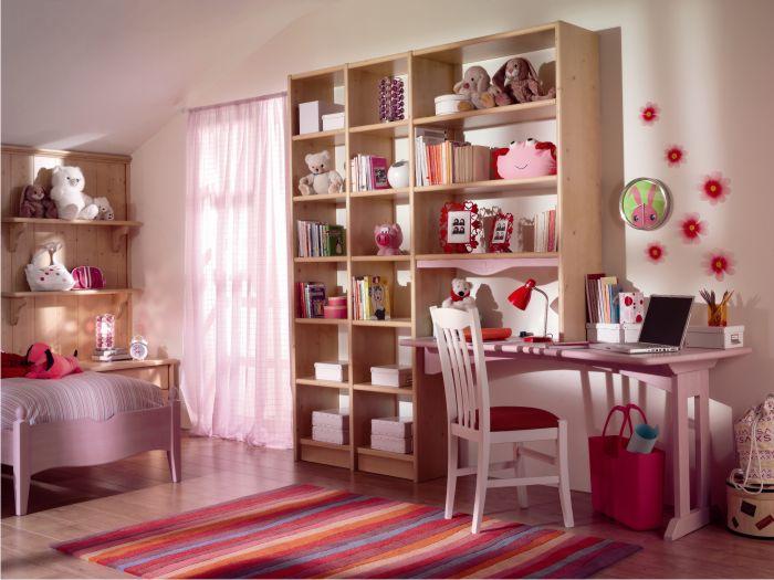 Free dettaglio libreria con zona studio with camerette for Libreria con scrivania incorporata