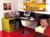 scrivania ad angolo con cassettiera