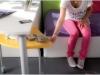 scrivania con comodino girevole