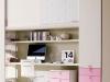 scrivania vip sotto ponte con cassettiera