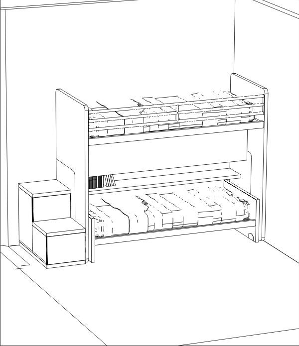 Arredare una cameretta doppia | Progetti 3D realizzati