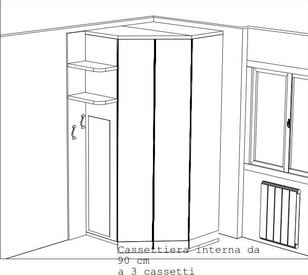 Misure Armadio Ad Angolo.Arredare Una Cameretta Doppia Progetti 3d Realizzati