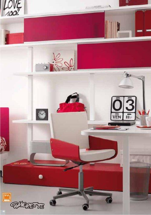 camerette rosse e blu : camerette rosse per ragazze