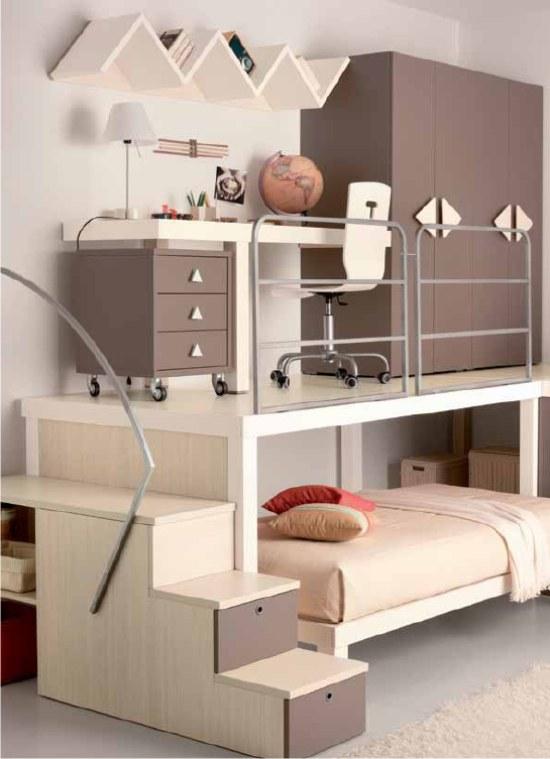 Grande camerette bambini con soppalco de03 pineglen - Camerette design bambini ...