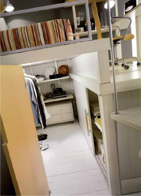 Cameretta bunker a soppalco su due piani for Cabina a 2 piani