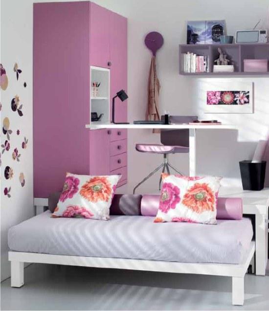 Cameretta singola rosa con letto a scomparsa for Design apartment 2 camere