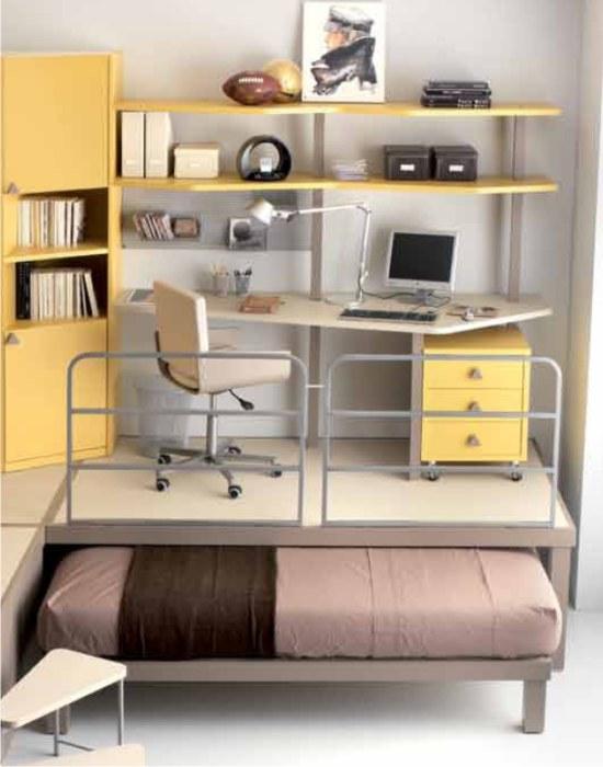 Cameretta doppia ufficio for Scrivanie con ruote per camerette