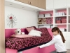 divano imbottito rosa