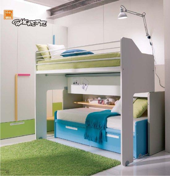 Camerette con letto a castello scorrevole dielle - Usato camerette bambini ...
