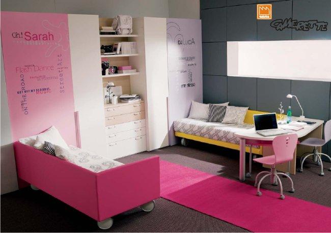 Camera da letto per ragazze, da Doimo Dielle
