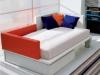 Divano letto Xbed piazza e mezza con cuscini