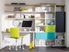 Libreria in spessore 3,5 cm con ante e vani giorno