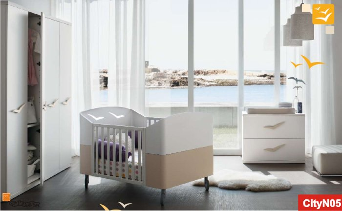 gabbiano trasformabile: camerette per neonati di design - Mobili Design Per Bambini Milano
