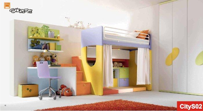 Letto a castello con scala contenitore zm11 regardsdefemmes - Letti x bambini ...