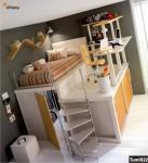 Soppalco con zona studio, ripostiglio e armadio scorrevole