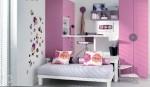 Cameretta per bambina rosa e bianca