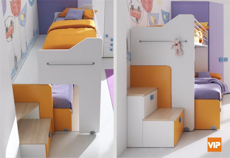 Il letto a castello scorrevole: movimenti salvaspazio