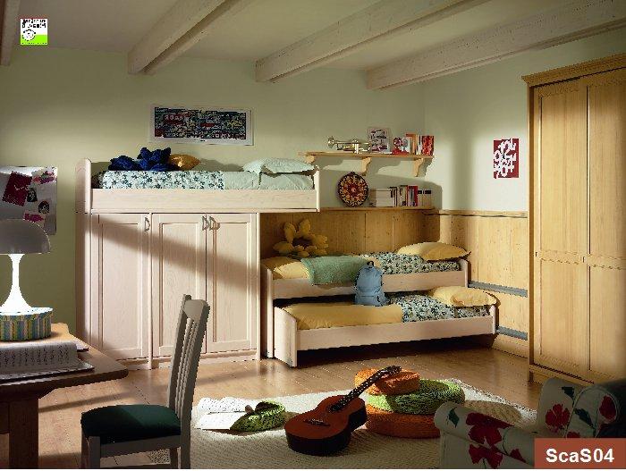 Stunning cameretta tre letti ideas amazing house design for Camerette a tre letti