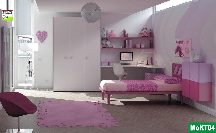 Cameretta singola rosa
