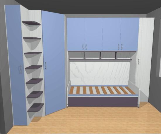 La piccola cameretta singola: un progetto