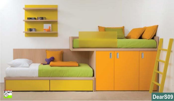 Castello a sbalzo soppalco con armadio for Camere da letto basso costo