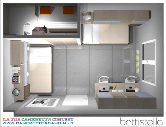 Battistella camerette progettazione su misura for Progettare la cameretta