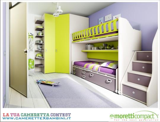 Cameretta Moretti, render 3d