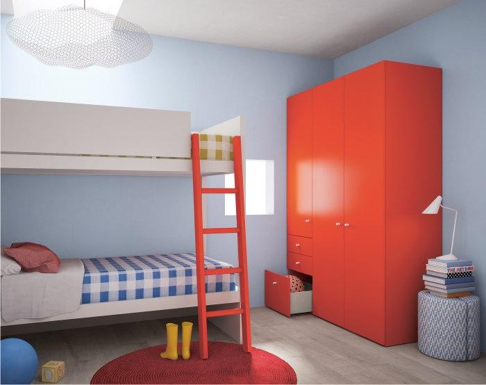 armadio rosso pomodoro