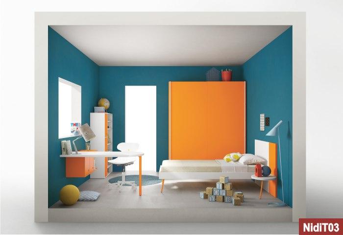 armadio scorrevole nit arancione