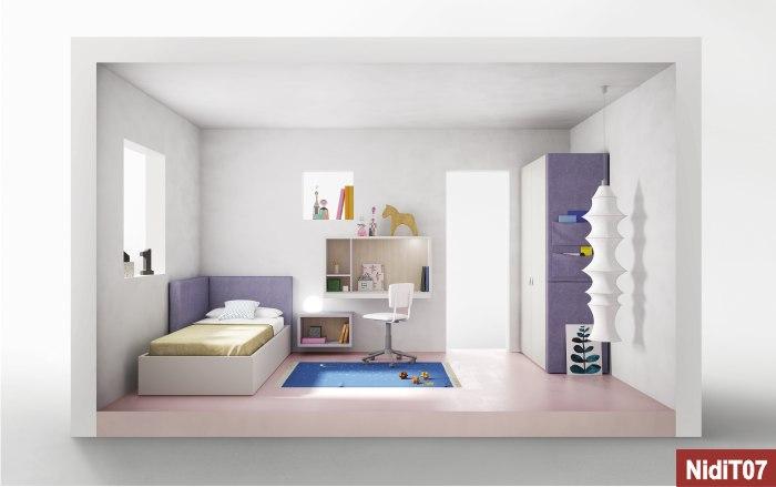 camerette nidi bianco viola