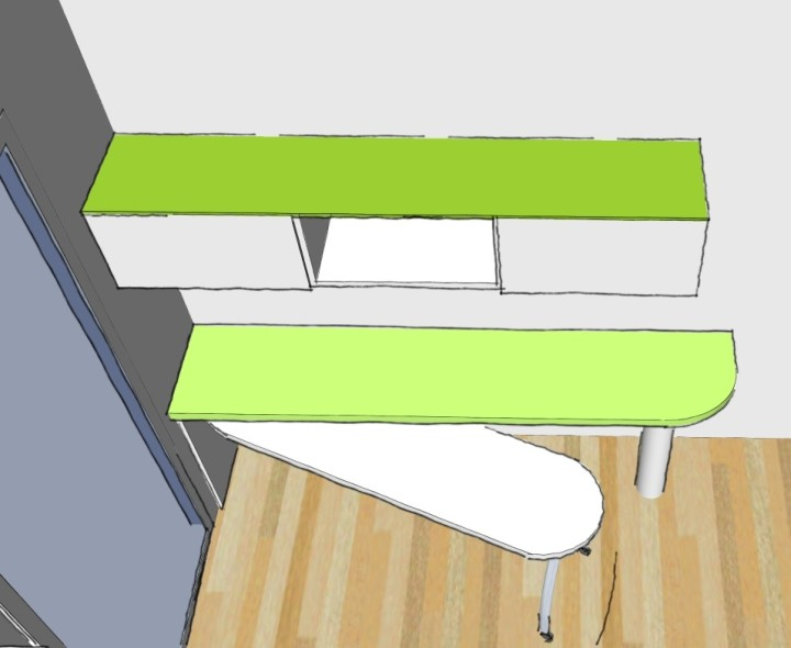 scrivania girevole