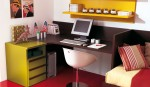 scrivania sagomata ad angolo