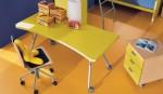 scrivania salva spazio su ruote