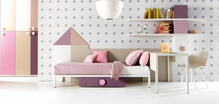 letto singolo rosa