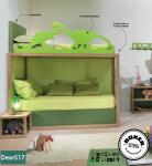 Soppalco moderno con letto contenitore