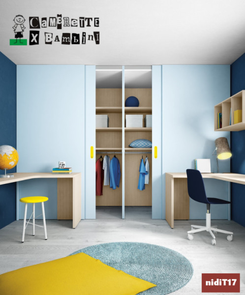 Doppia cabina armadio e scrivania