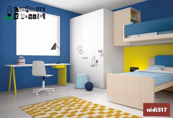 doppio letto con cabina e scrivania