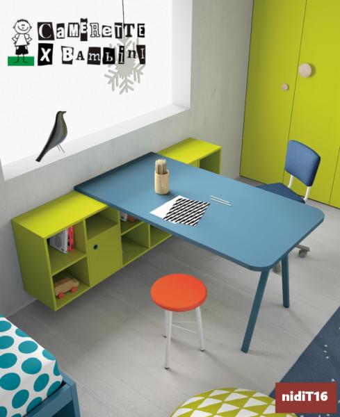 scrivania con libreria Nidi