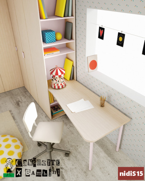zona studio con libreria battistella